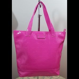 KATE SPADE NY Hot Pink Patent Leather Tote Purse